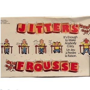 Vintage Nostalgic Milton Bradley MB Jitters Word Fast Paced Dice Game
